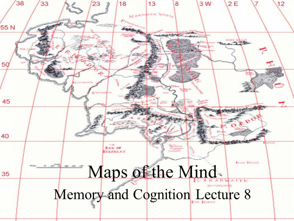 Maps of the Mind Memory and Cognition Lecture 8