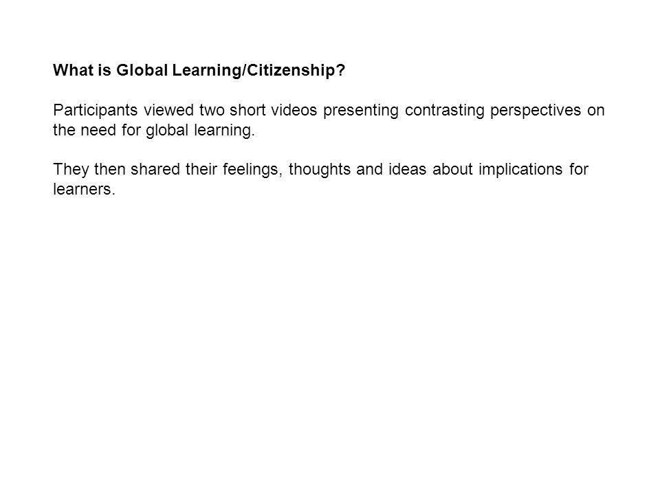What is Global Learning/Citizenship.