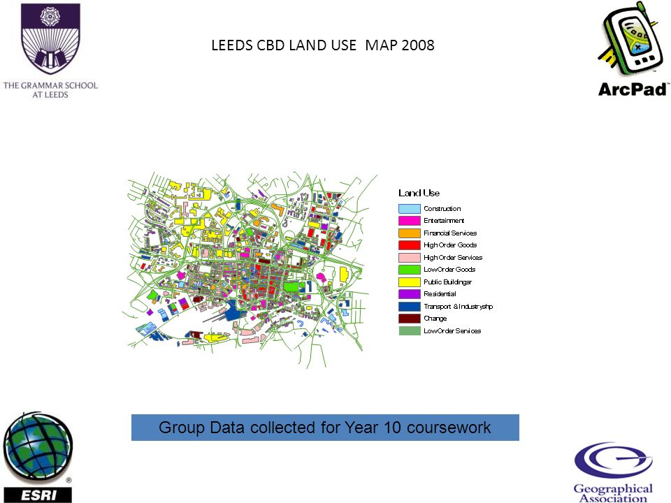 LEEDS CBD LAND USE MAP 2008 Group Data collected for Year 10 coursework
