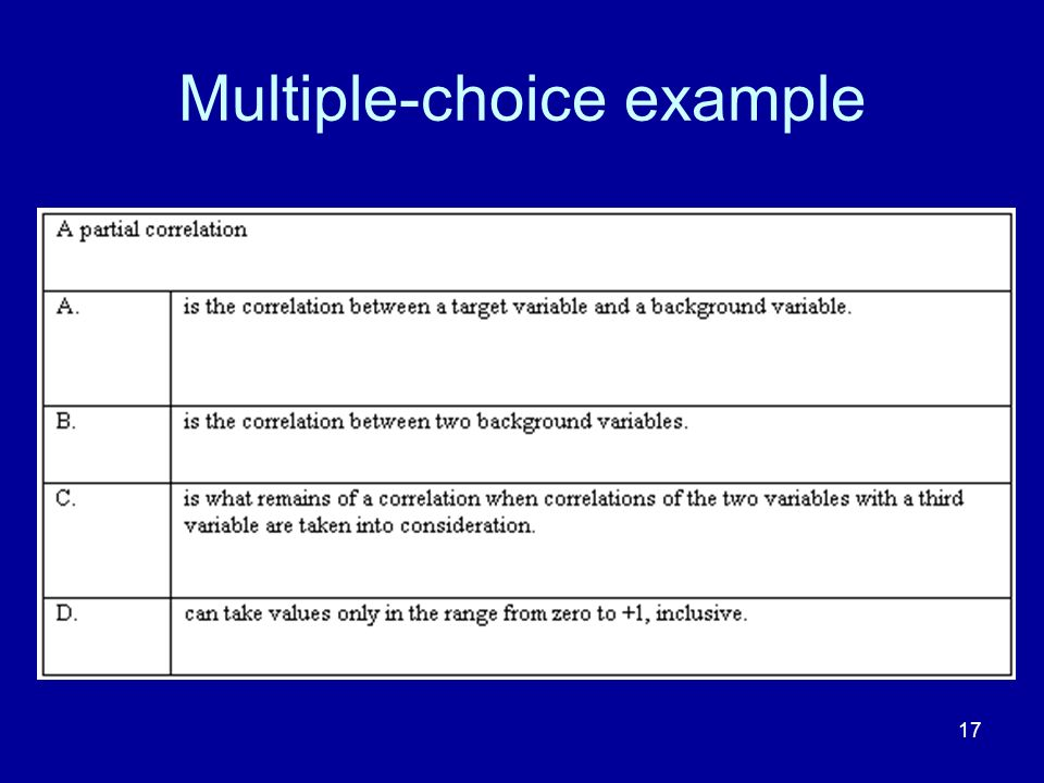 17 Multiple-choice example