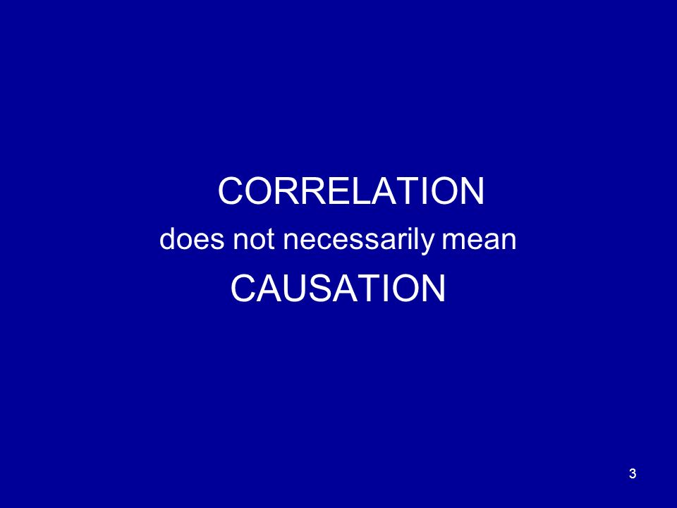 3 CORRELATION does not necessarily mean CAUSATION