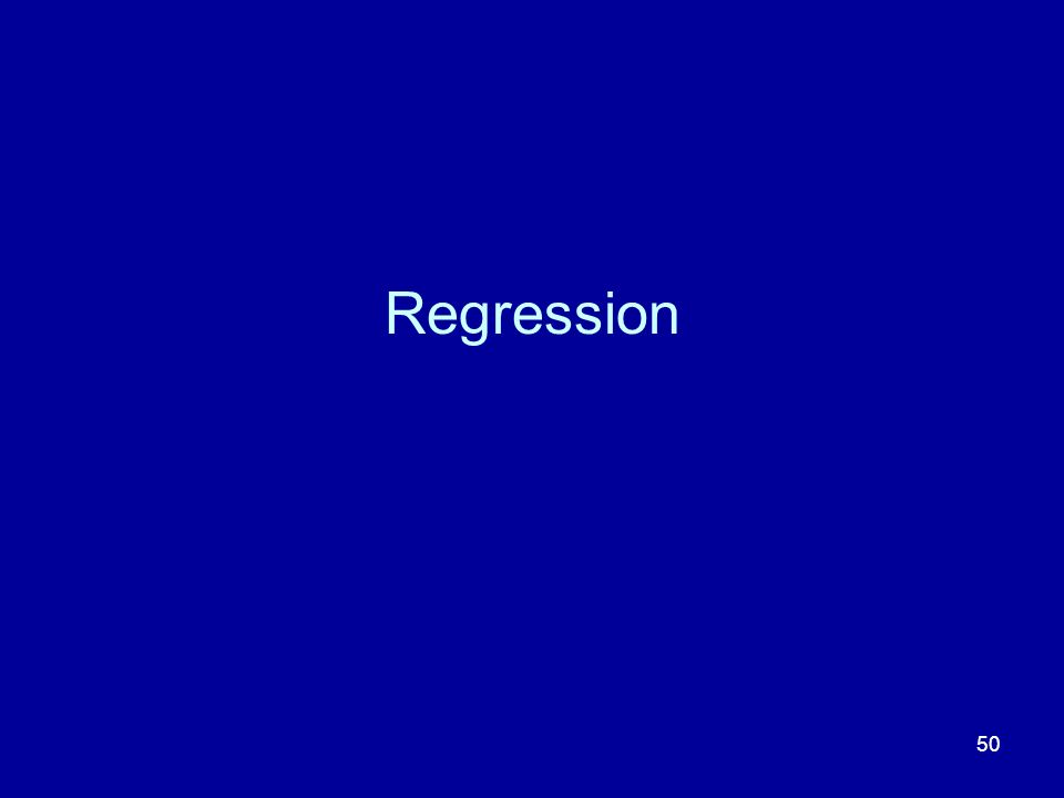 50 Regression