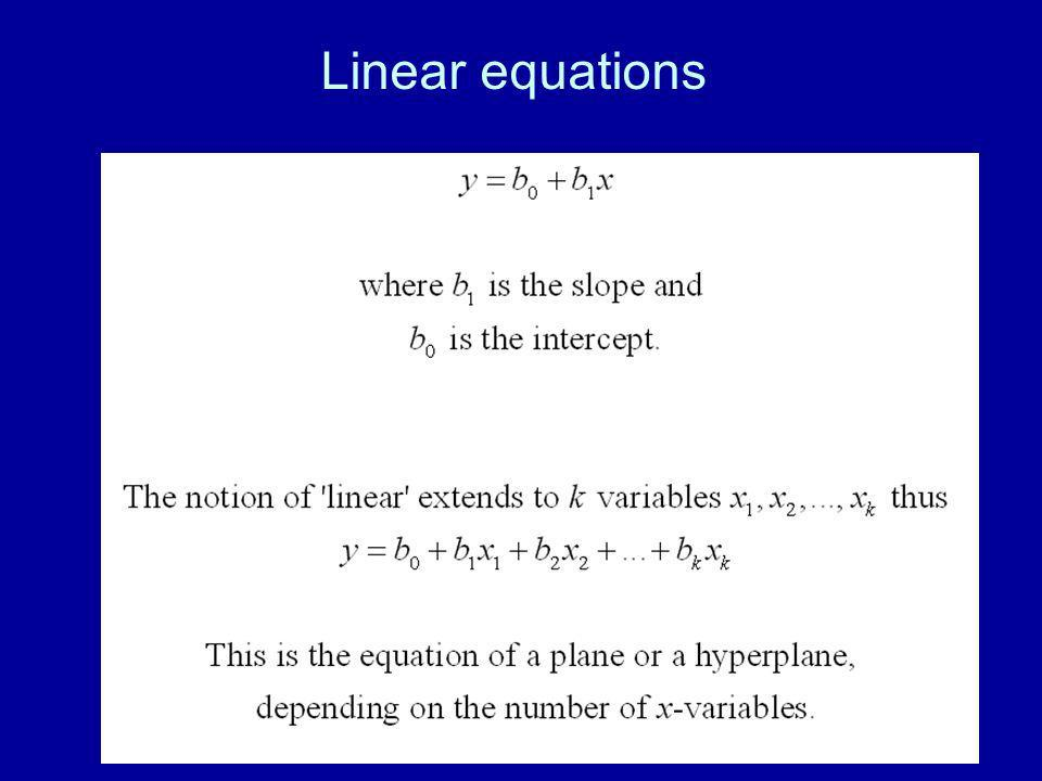 37 Linear equations