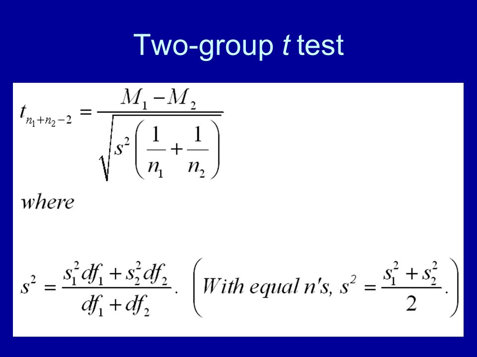 33 Two-group t test