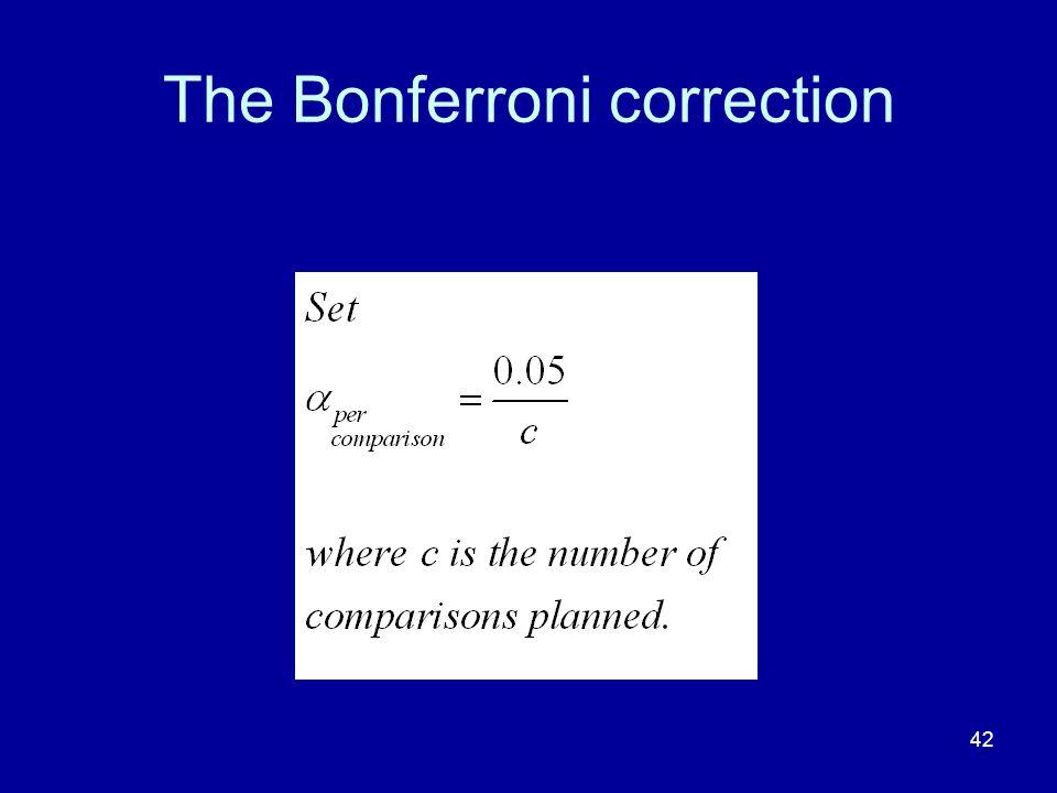 42 The Bonferroni correction