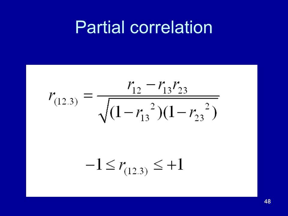48 Partial correlation
