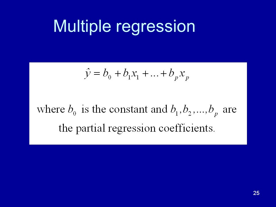 25 Multiple regression
