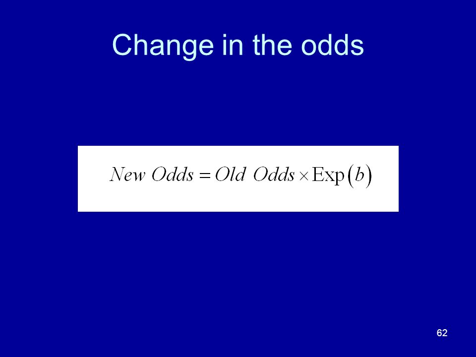62 Change in the odds