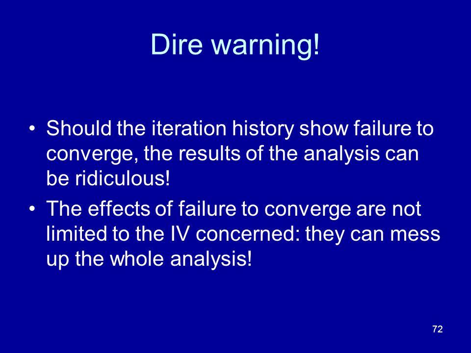 72 Dire warning.