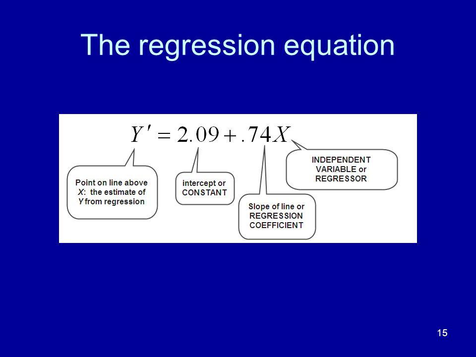 15 The regression equation