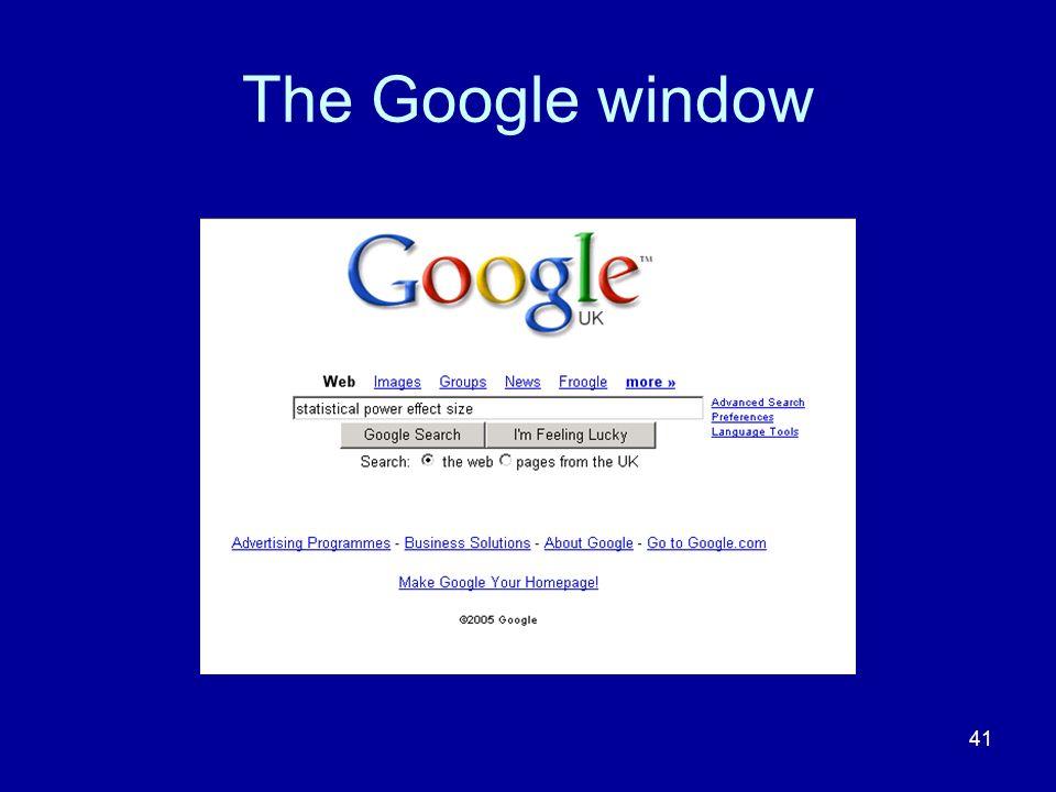 41 The Google window