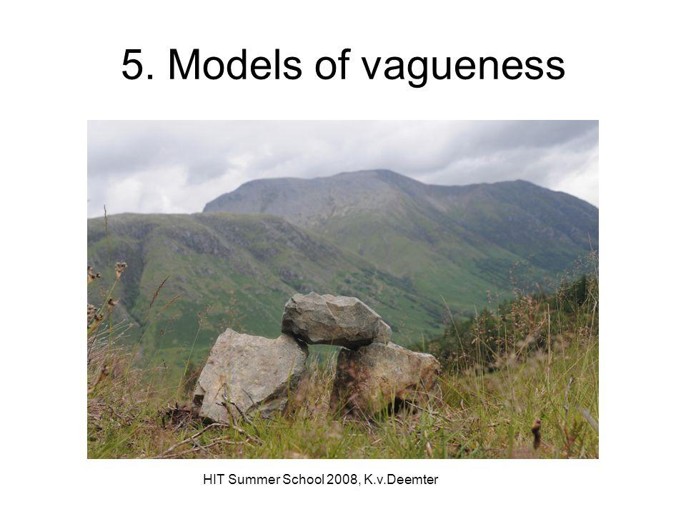 HIT Summer School 2008, K.v.Deemter 5. Models of vagueness