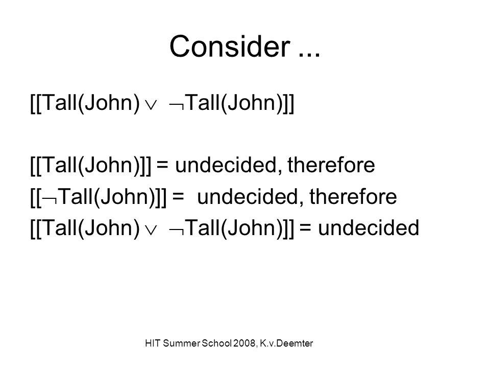 HIT Summer School 2008, K.v.Deemter Consider...