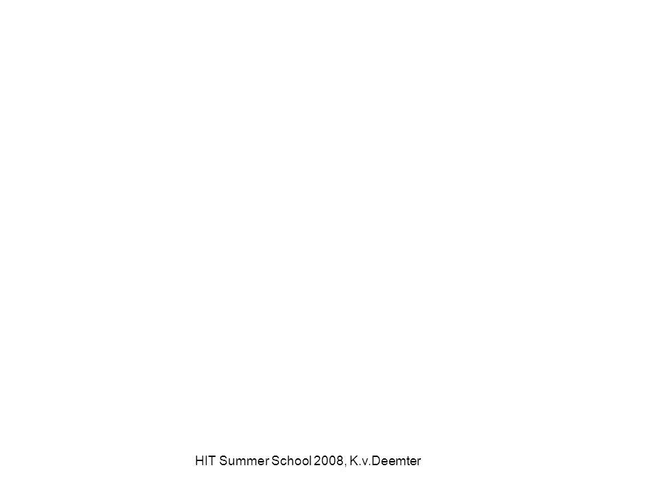 HIT Summer School 2008, K.v.Deemter