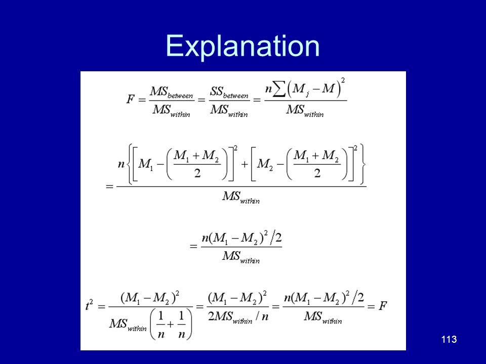 113 Explanation