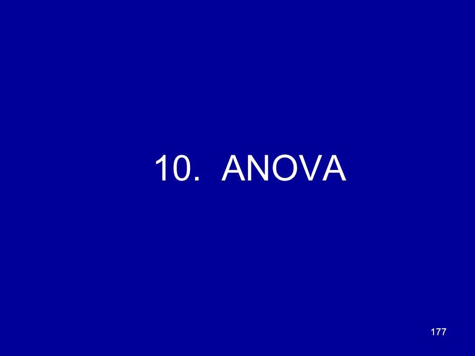 177 10. ANOVA