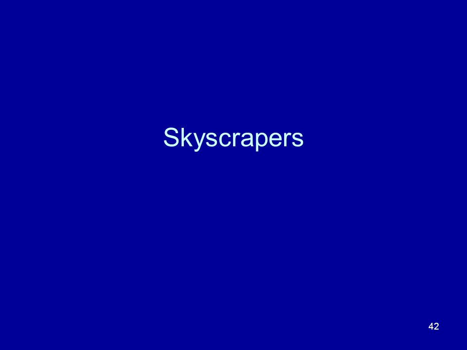 42 Skyscrapers