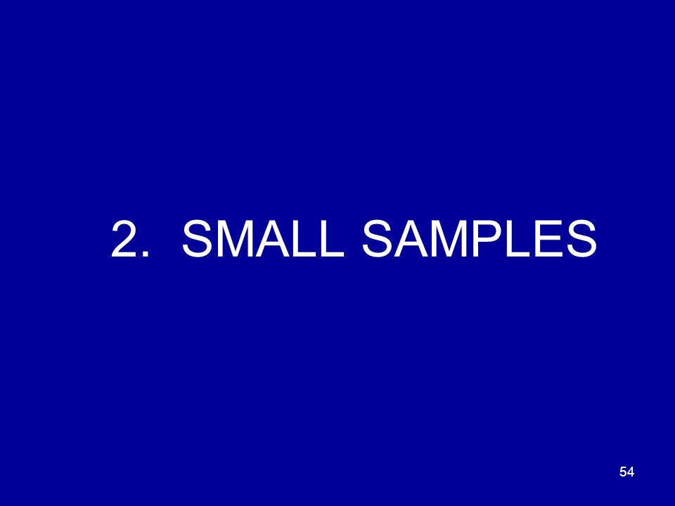 54 2. SMALL SAMPLES