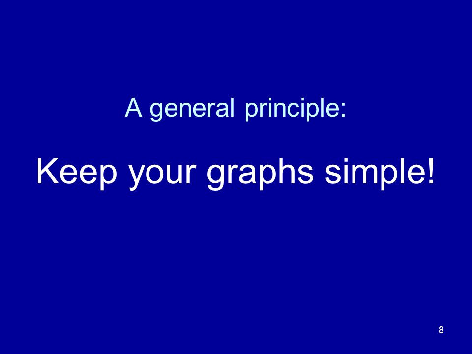8 A general principle: Keep your graphs simple!