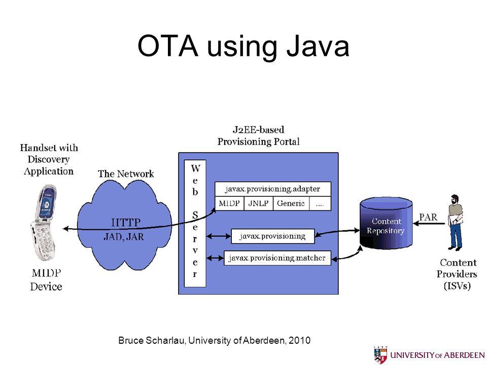 Bruce Scharlau, University of Aberdeen, 2010 OTA using Java