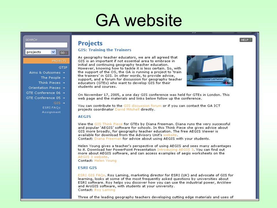 GA website