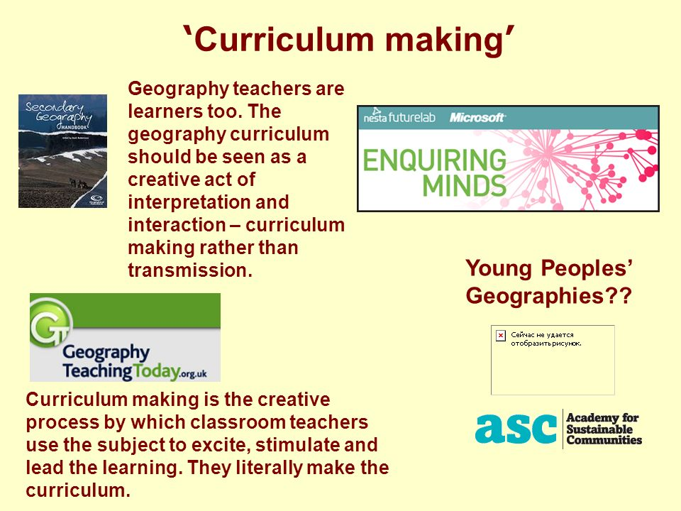 Geography teachers are learners too.