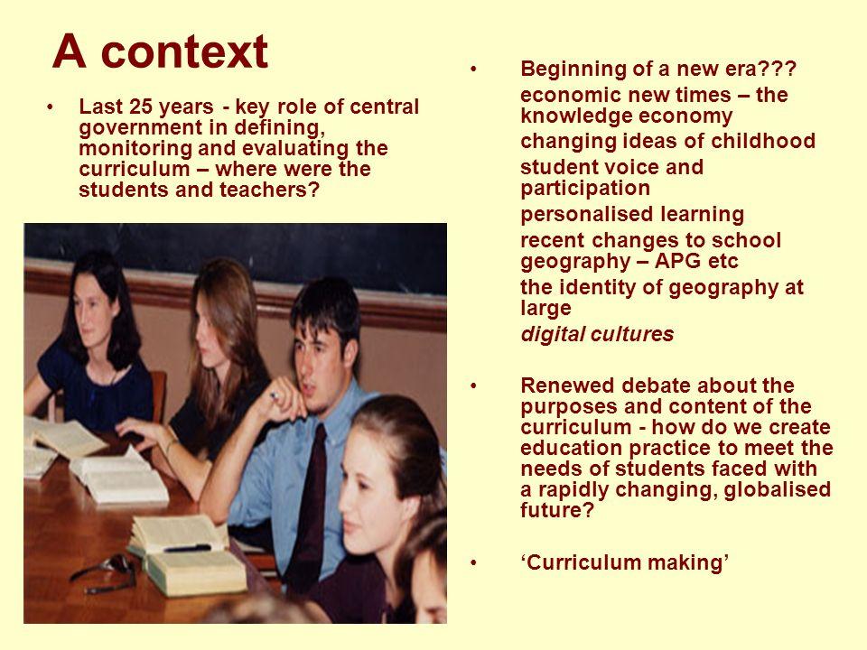 A context Beginning of a new era??.