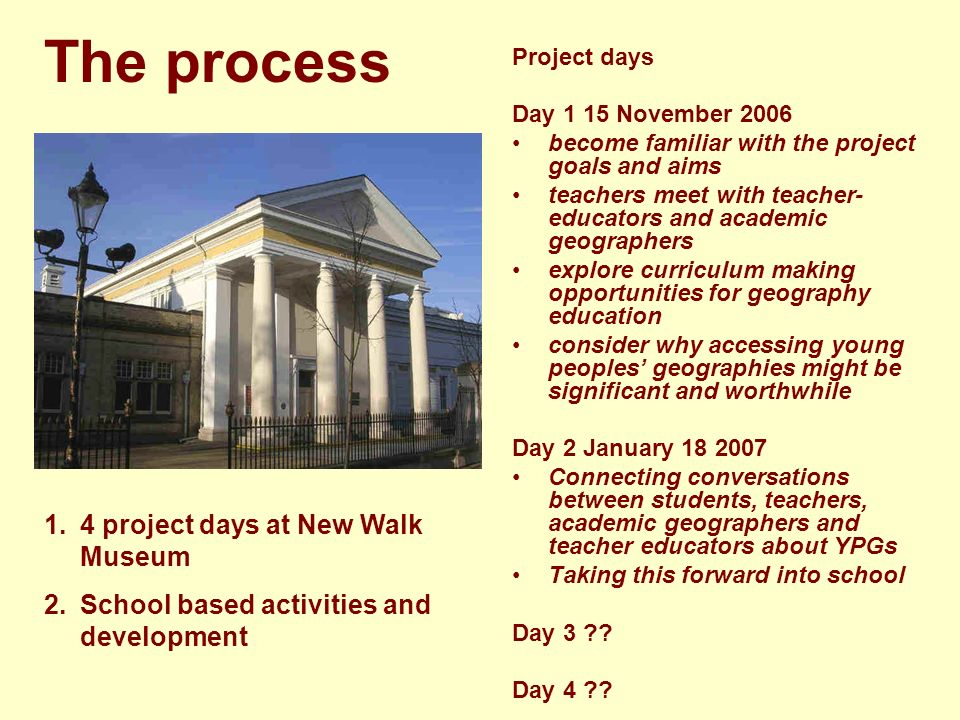 Young peoples Geographies The project features students and teachers using young peoples geographies as a starting point.