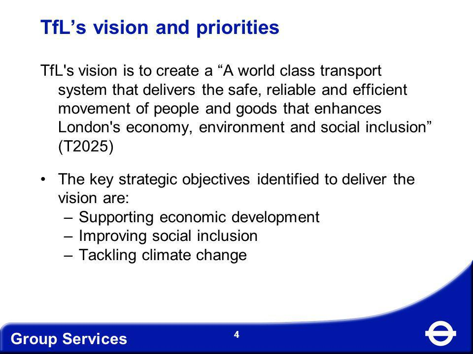 Group Services 5 UK Sustainable Procurement Strategy High level commitment and leadership GLA Group Responsible Procurement Policy TfL – Supplier Diversity Framework Legislative base Key drivers for supplier diversity 5