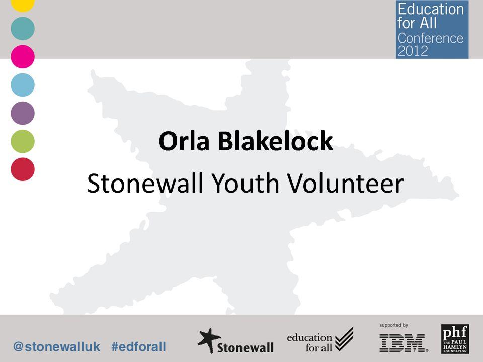 Orla Blakelock Stonewall Youth Volunteer