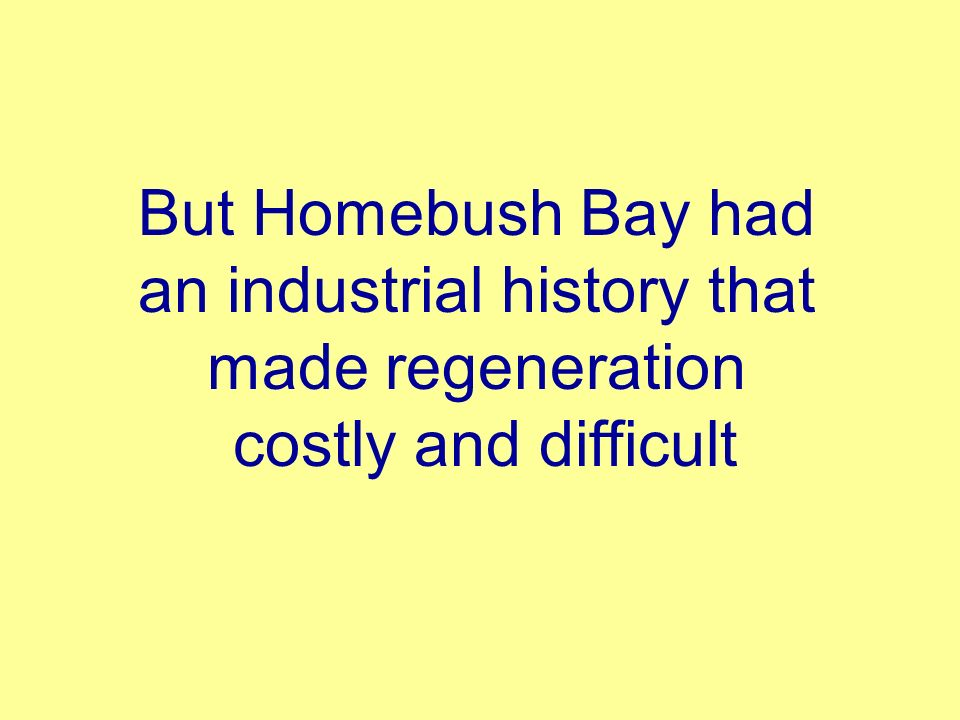 But Homebush Bay had an industrial history that made regeneration costly and difficult