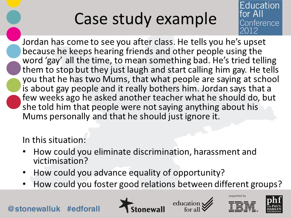 Case study example Jordan has come to see you after class. He tells you hes upset because he keeps hearing friends and other people using the word gay