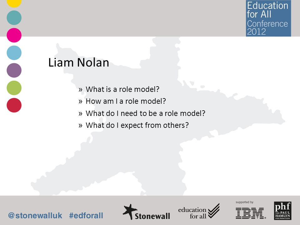 Liam Nolan » What is a role model. » How am I a role model.