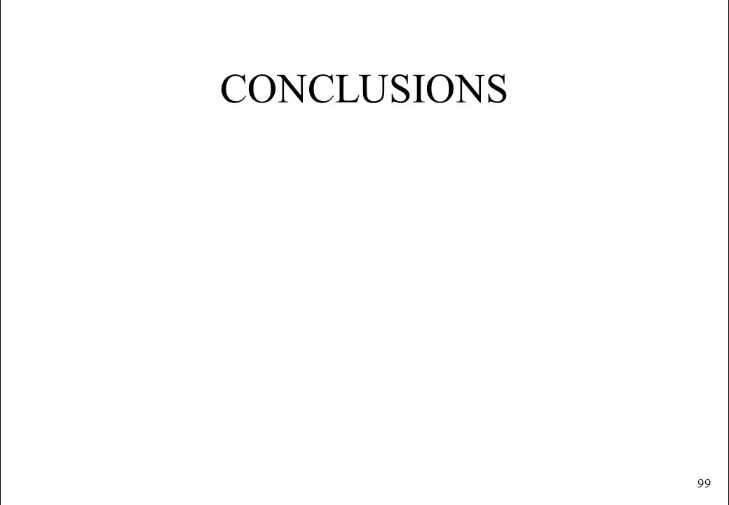 99 CONCLUSIONS