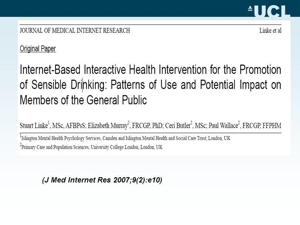 (J Med Internet Res 2007;9(2):e10)