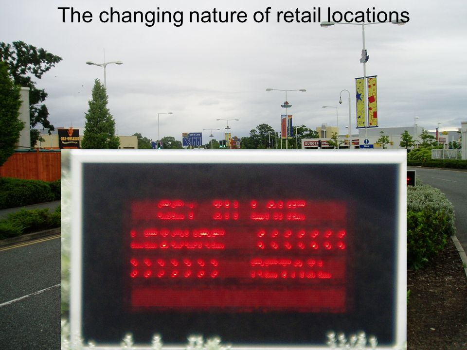 The changing nature of retail locations