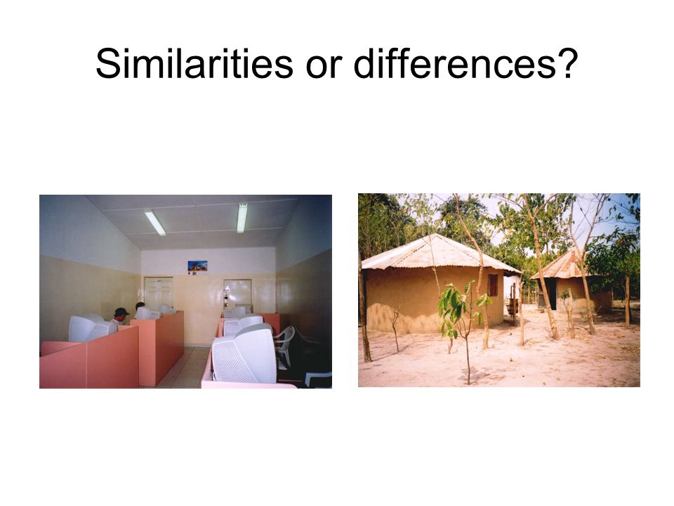 Similarities or differences