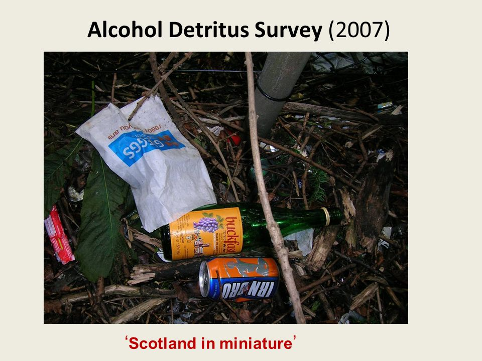 Alcohol Detritus Survey (2007) Scotland in miniature