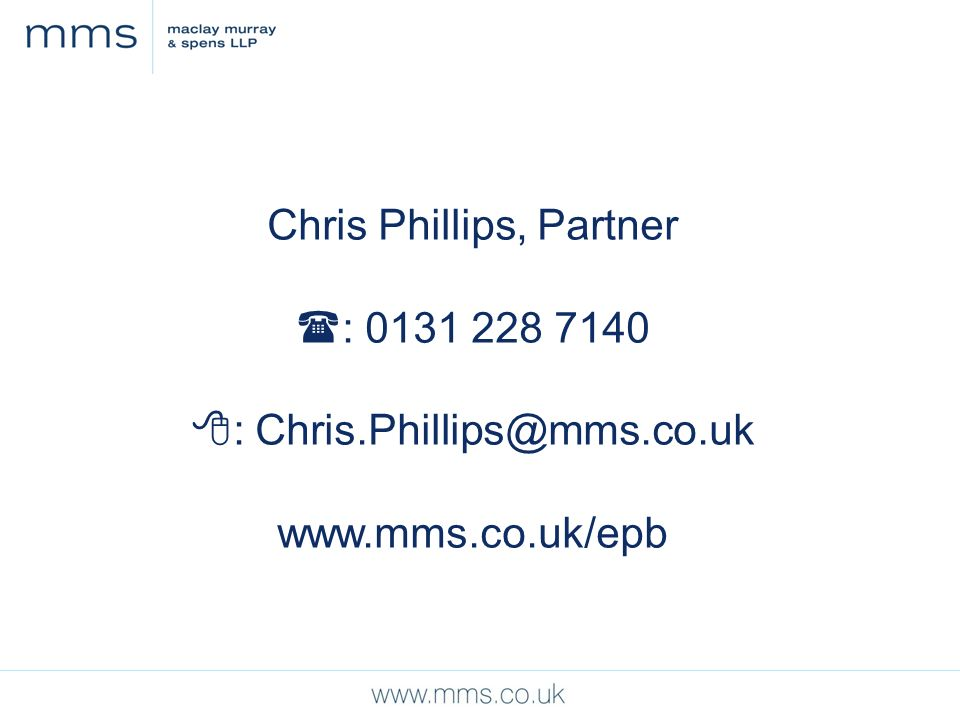 Chris Phillips, Partner : :