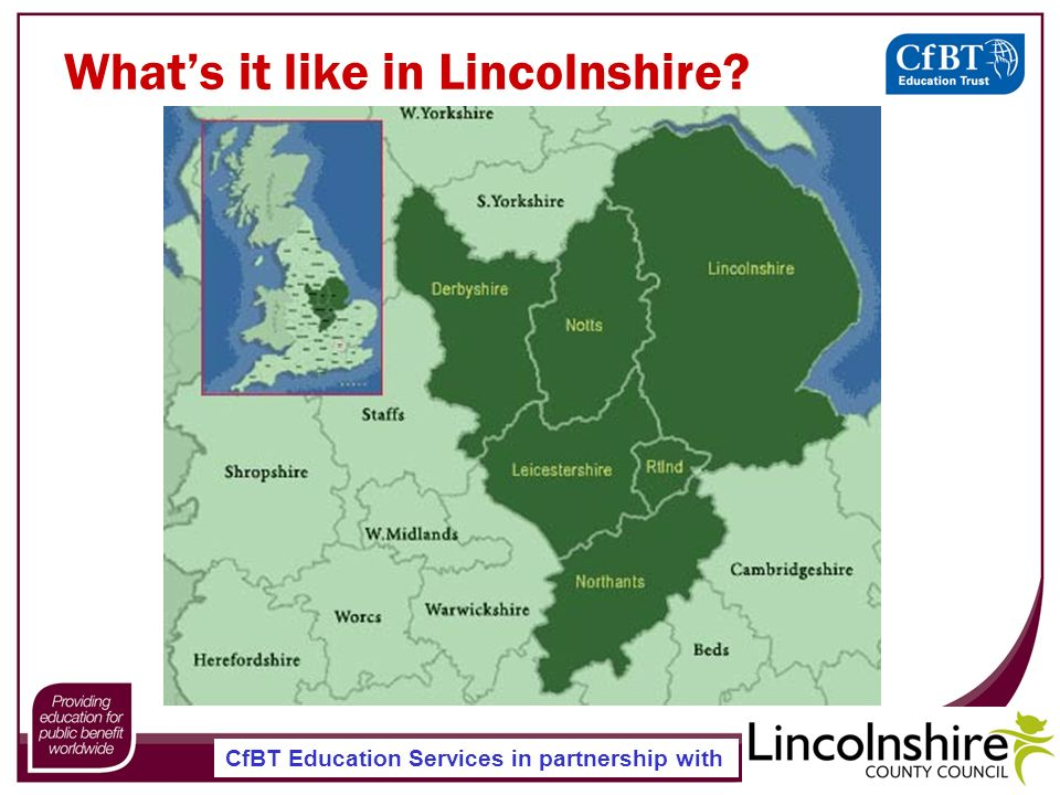CfBT Education Services in partnership with Whats it like in Lincolnshire