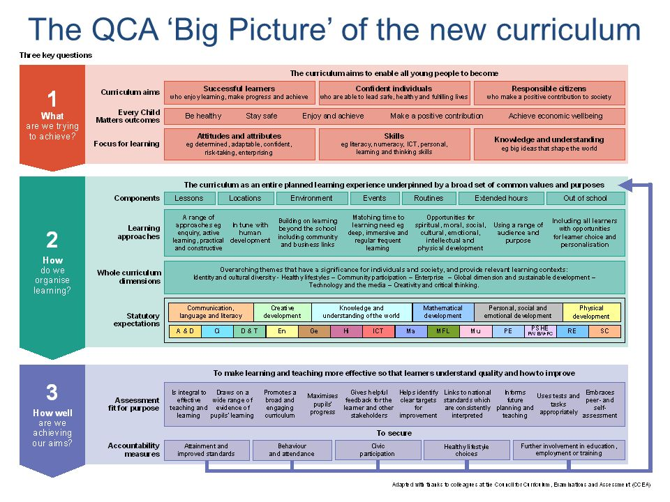 The QCA Big Picture of the new curriculum