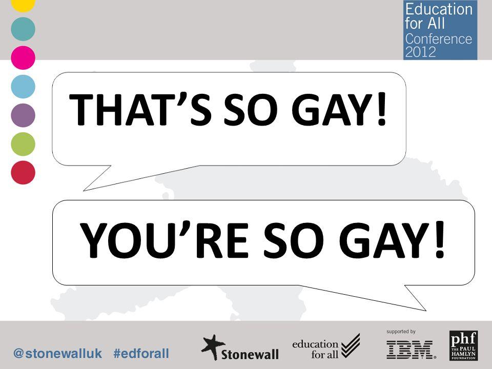 YOURE SO GAY! THATS SO GAY!