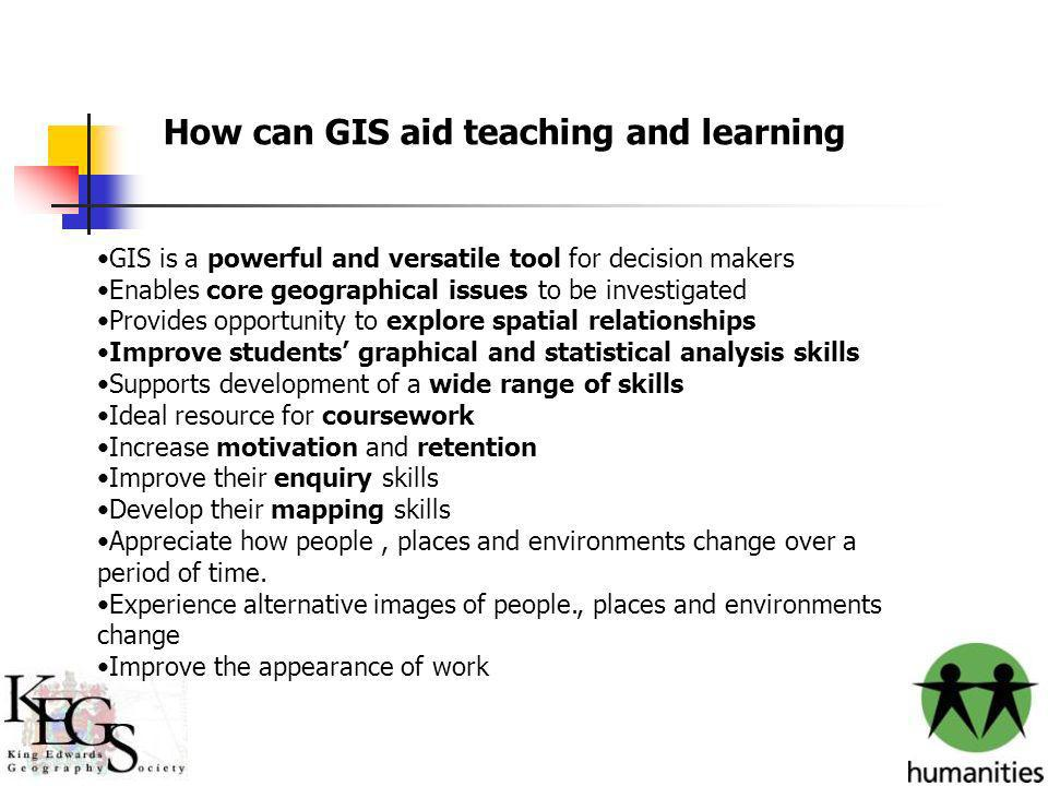 Imagination is more important than knowledge. GIS is a powerful and versatile tool for decision makers Enables core geographical issues to be investig