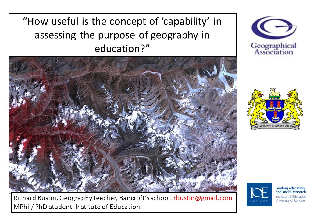 How useful is the concept of capability in assessing the purpose of geography in education.