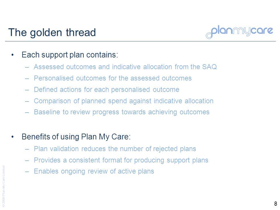 © 2008 Plan My Care Limited 19 Broker Admin Dashboard