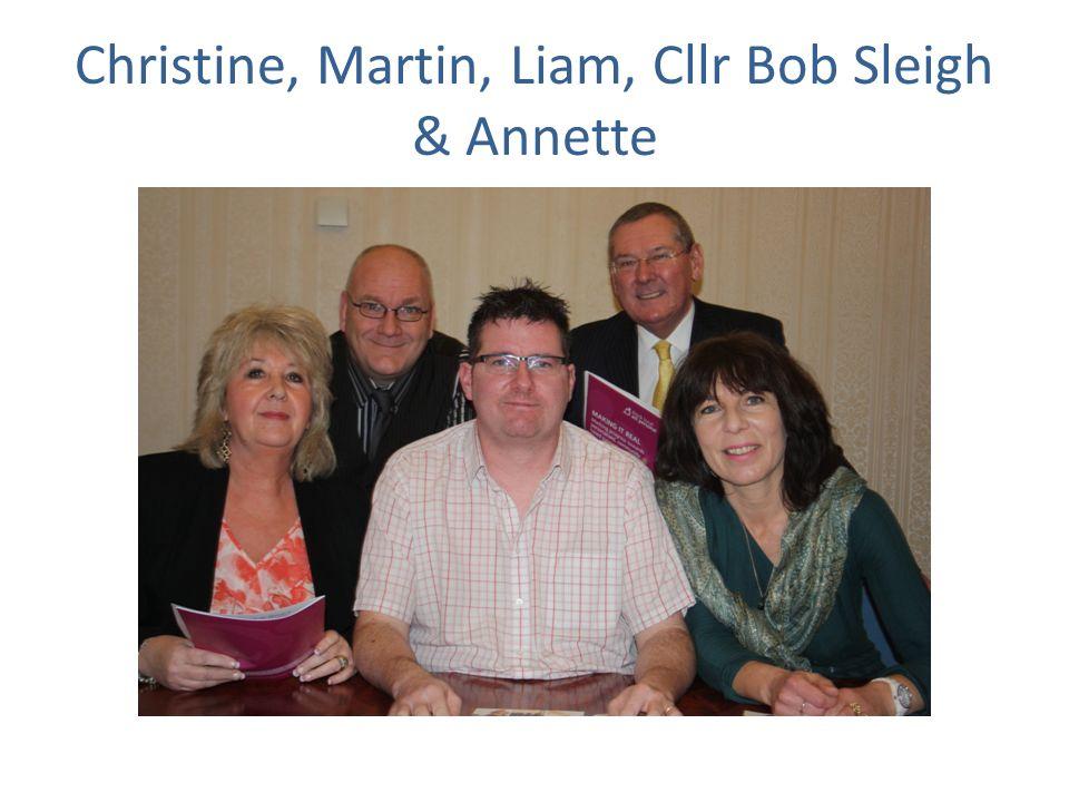 Christine, Martin, Liam, Cllr Bob Sleigh & Annette
