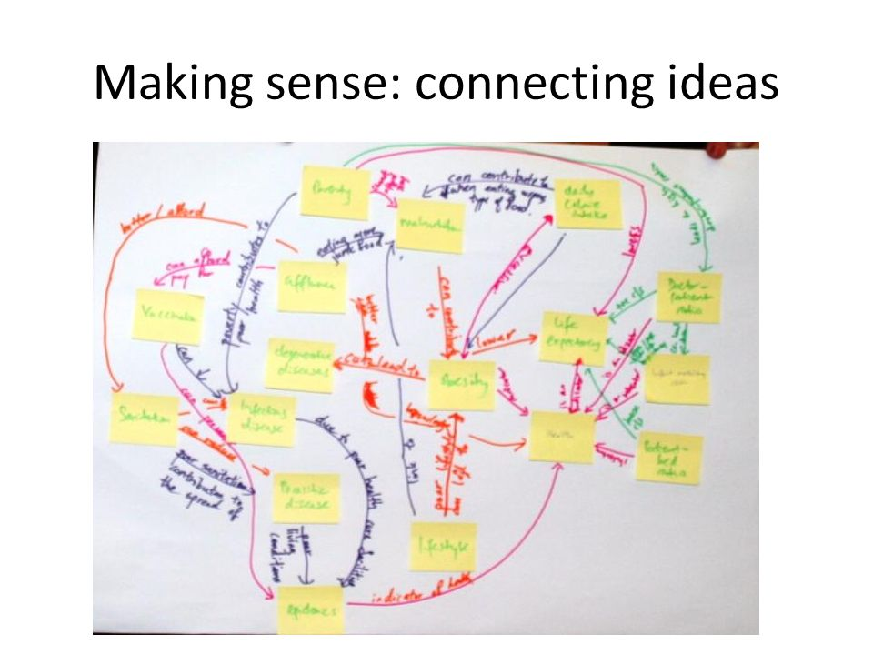 Making sense: connecting ideas