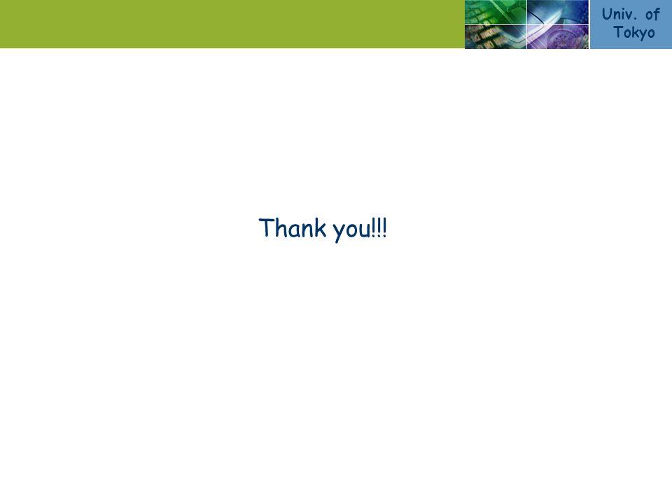 Univ. of Tokyo 12/11 Thank you!!!
