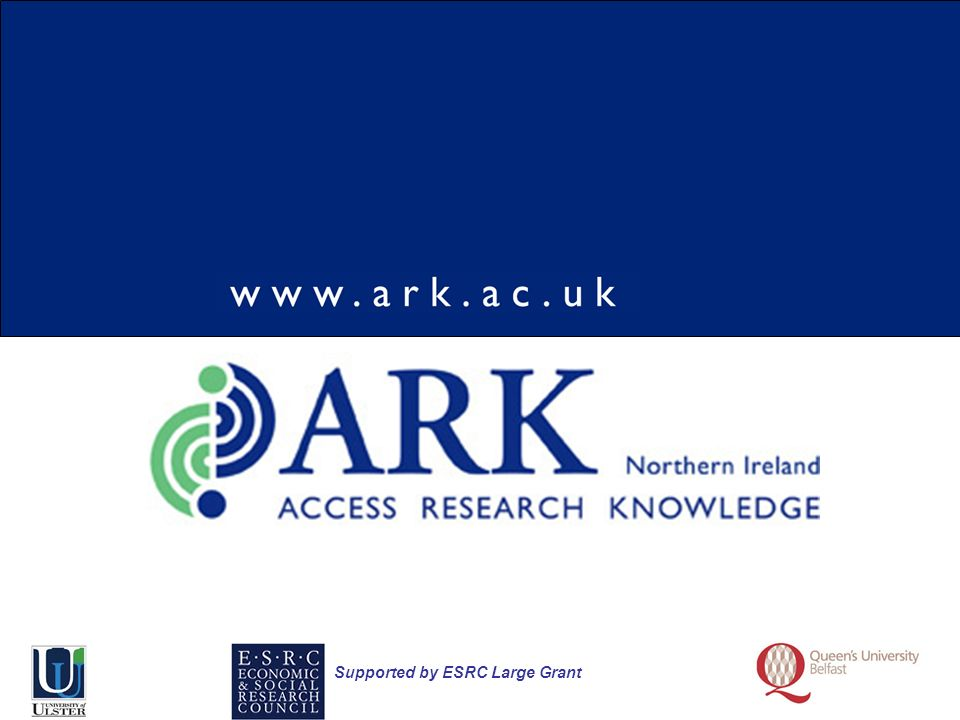 Supported by ESRC Large Grant