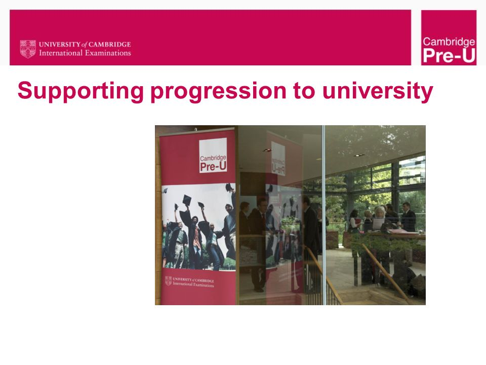 Supporting progression to university